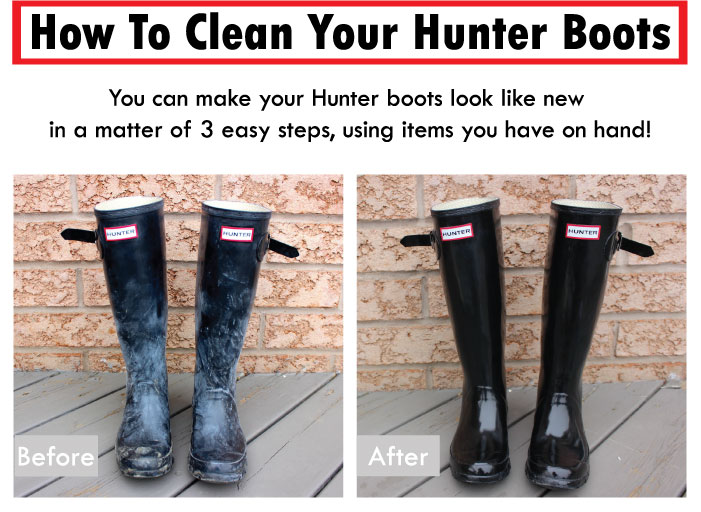 DIY - How to make Hunter Boots look like new