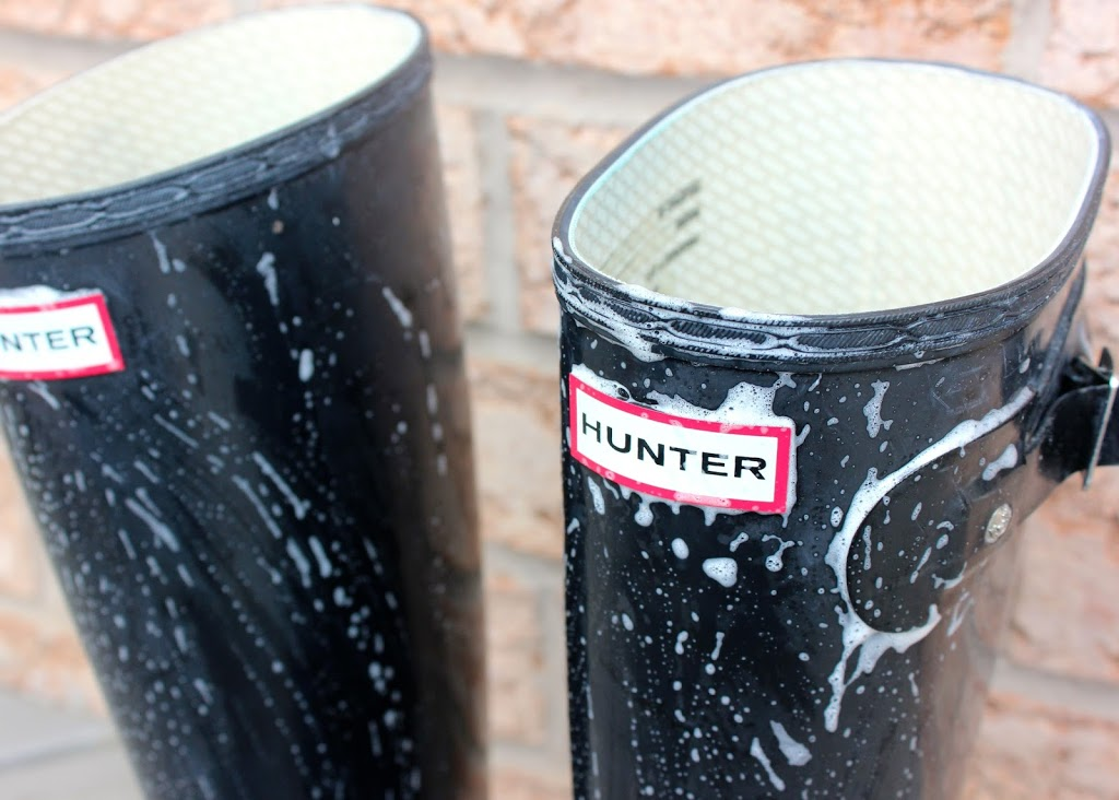 Hunter Boots blooming removal