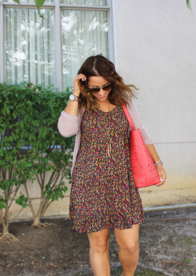 Wearing Florals in Fall