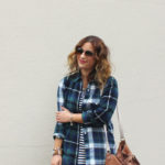 How to Mix Patterns – Plaid and Stripes