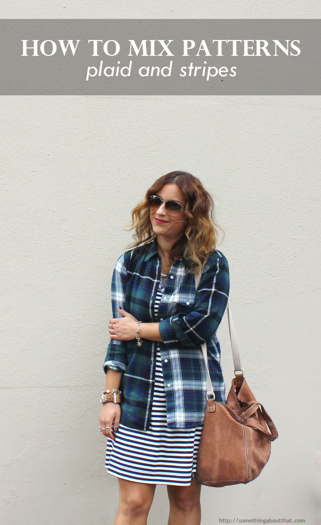 Mixing Patterns - How to mix plaid and stripes