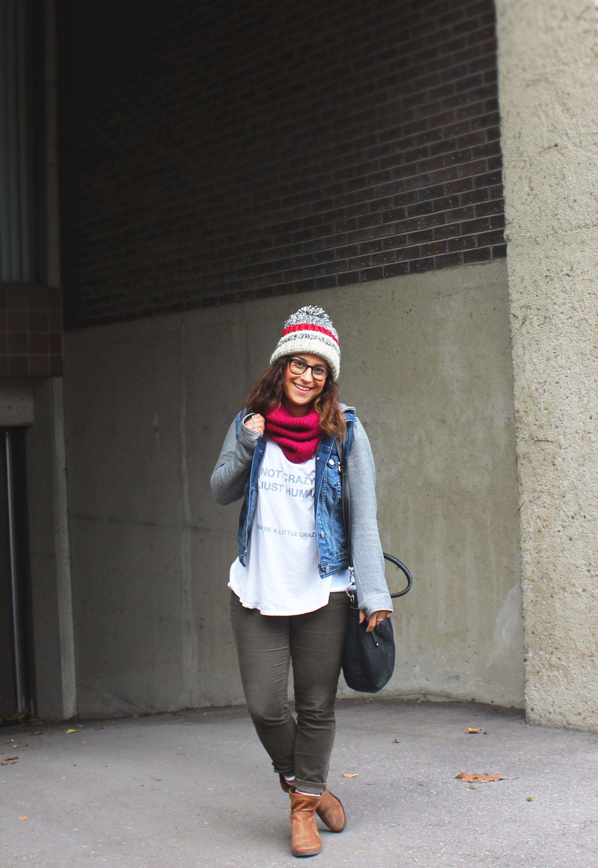 Oversized Beanie and Graphic Tee