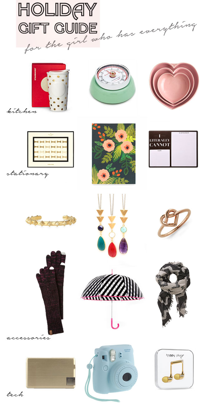 Holiday Gift Guide (for the girl who has everything)
