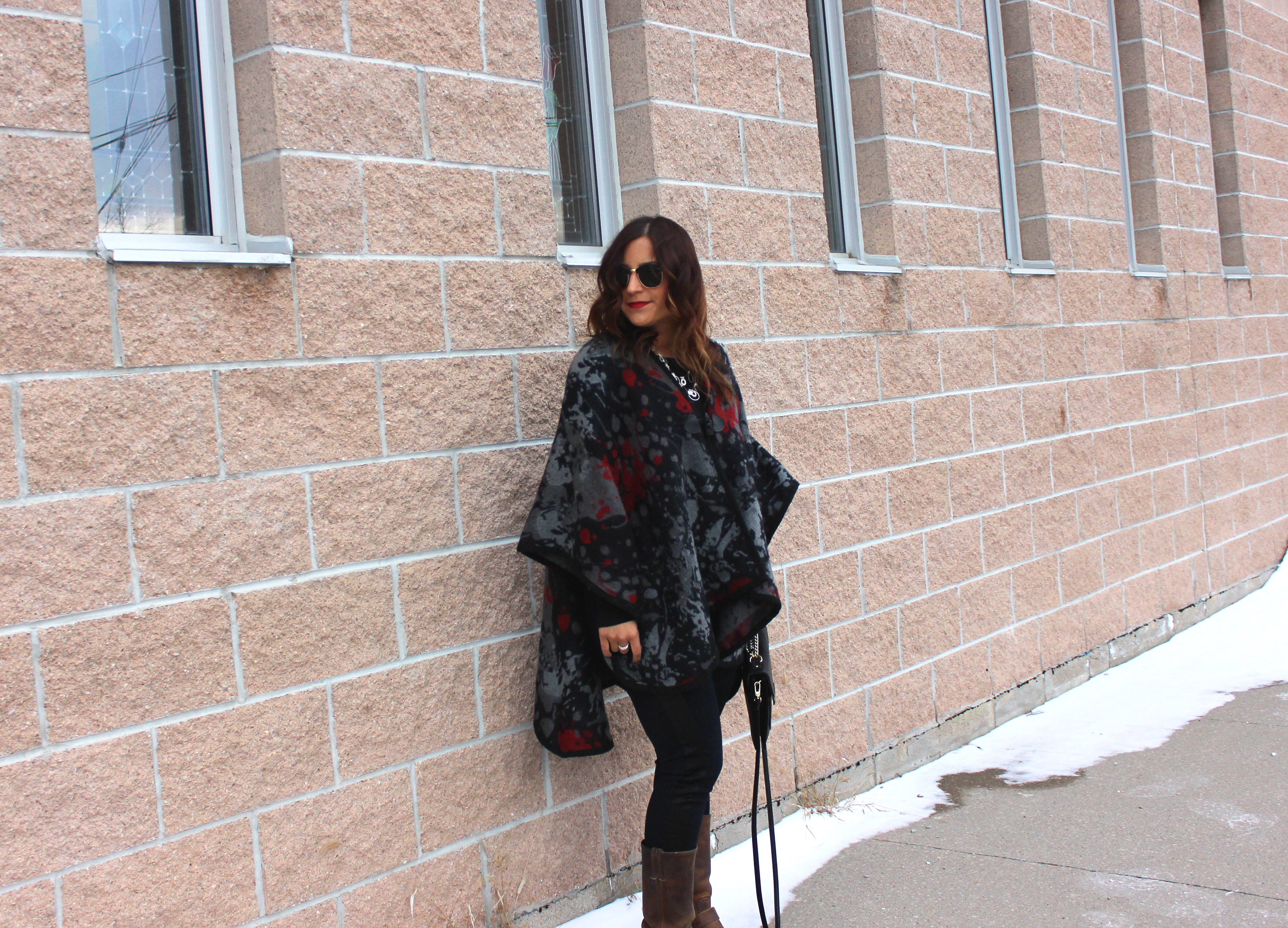 Fall and Winter Style Tip - How to wear a poncho