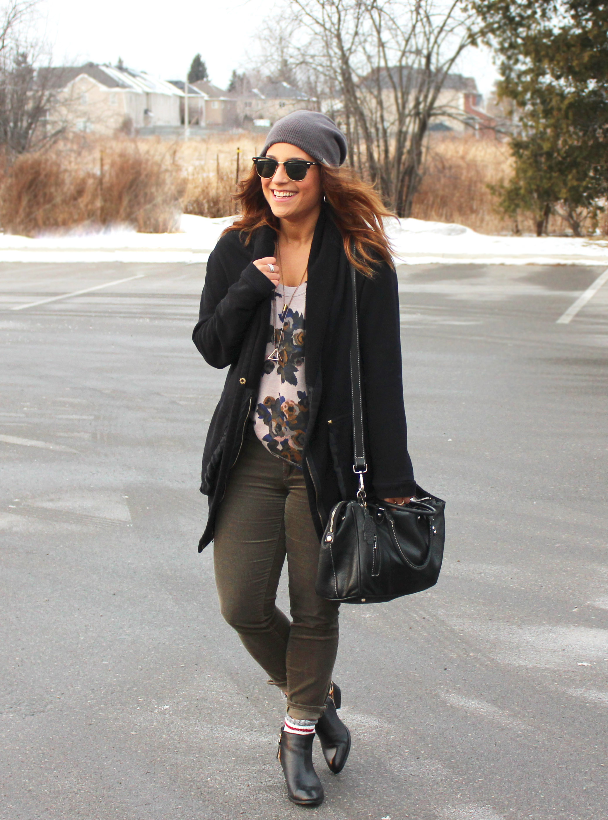 Oversized Cardigan and a Toque