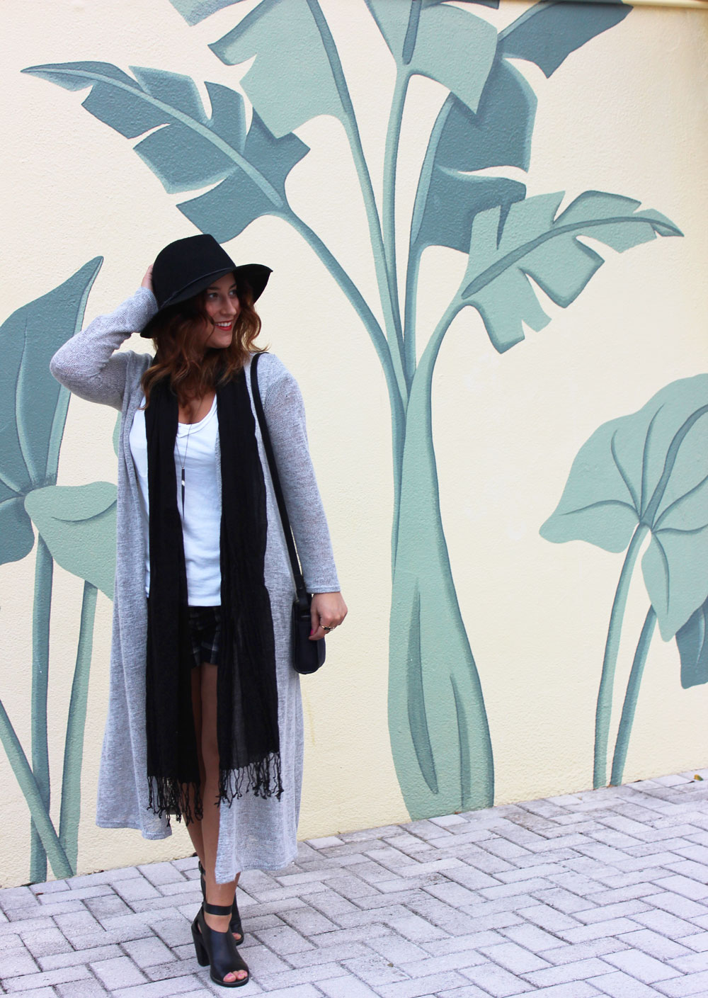 Cozy longline cardigan, perfect transition into fall or spring