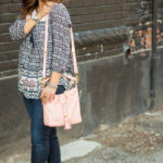 patterned peasant top