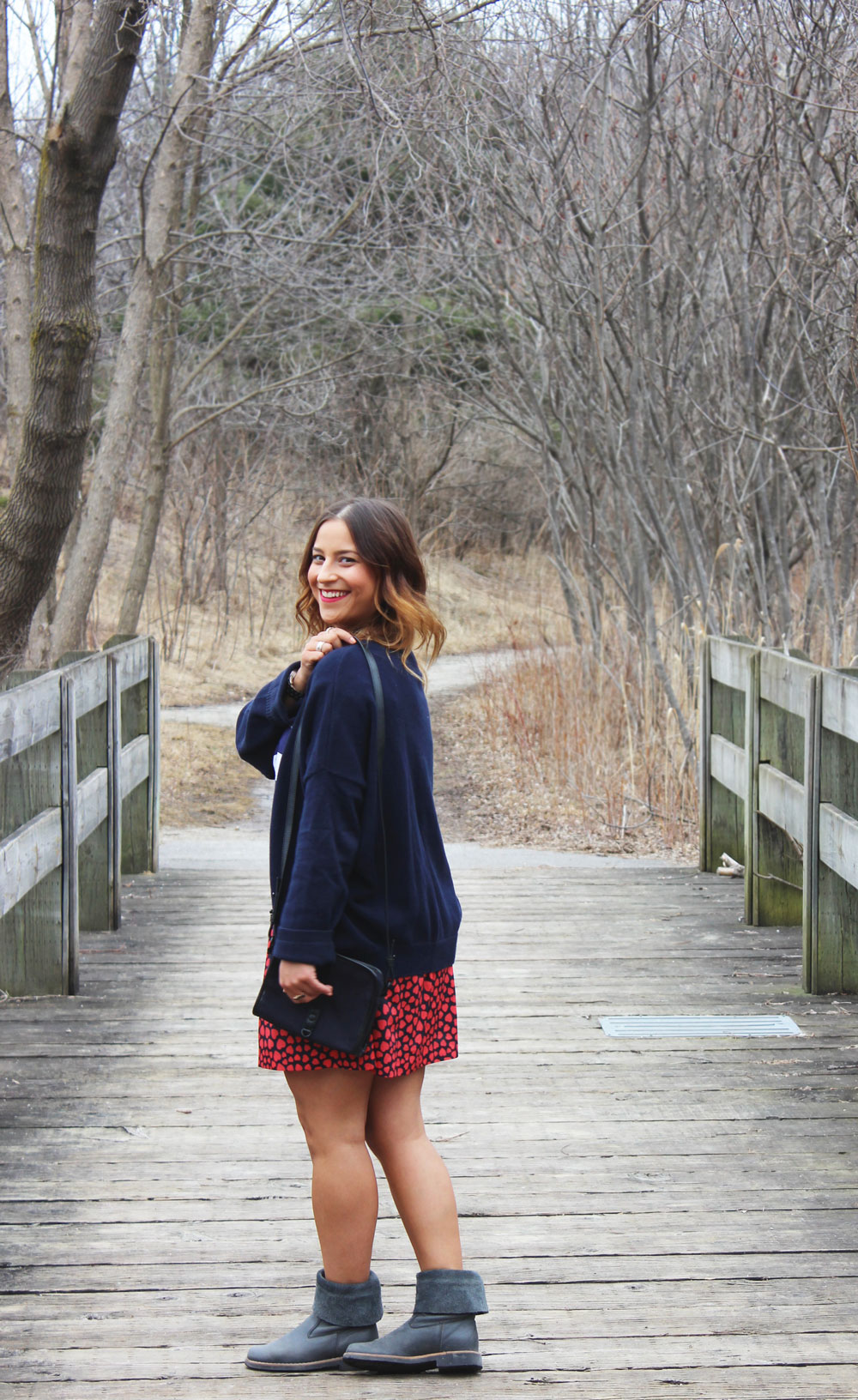 Mixing Patterns and Stripes, Oversized Cardigan - Spring/Fall Fashion