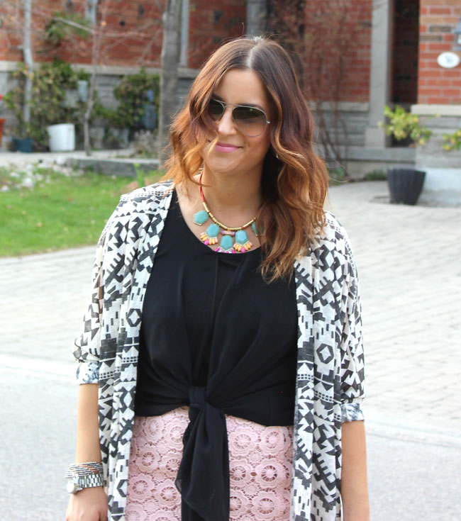 Tribal Printed Cardigan from Target, worn by fashion blogger