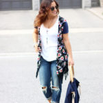 boyfriend jeans and florals