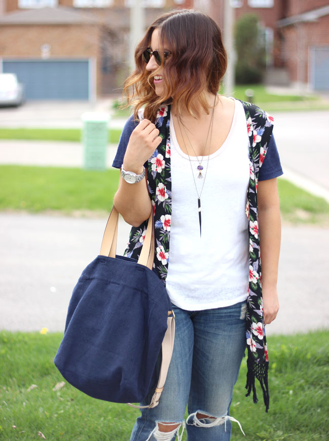 Crafts and Love necklaces, as worn by Toronto fashion and lifestyle blogger, Jackie Goldhar