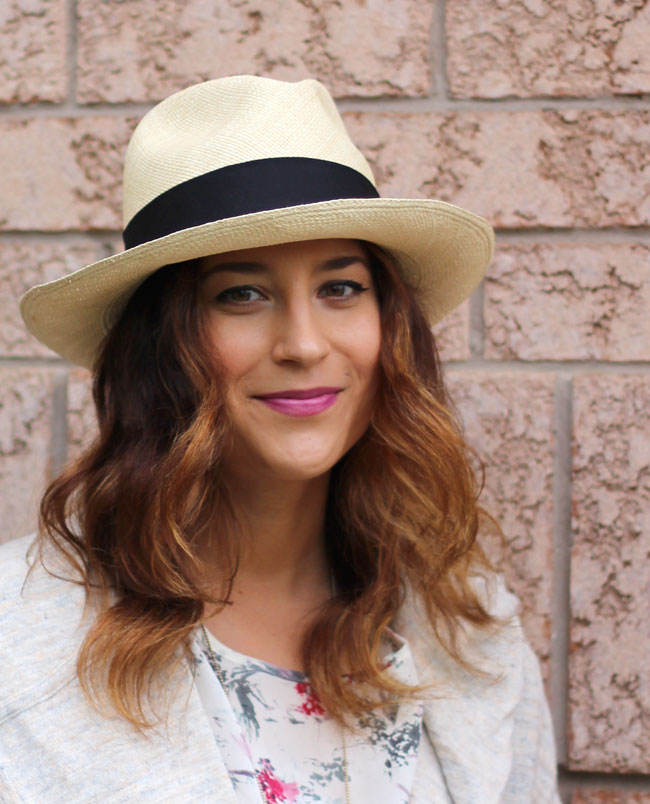 Aritzia Panama hat, worn by Toronto fashion and lifestyle blogger, Jackie Goldhar