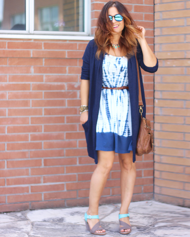 Emu Dawn Sandals and Tye Dye Gap Dress