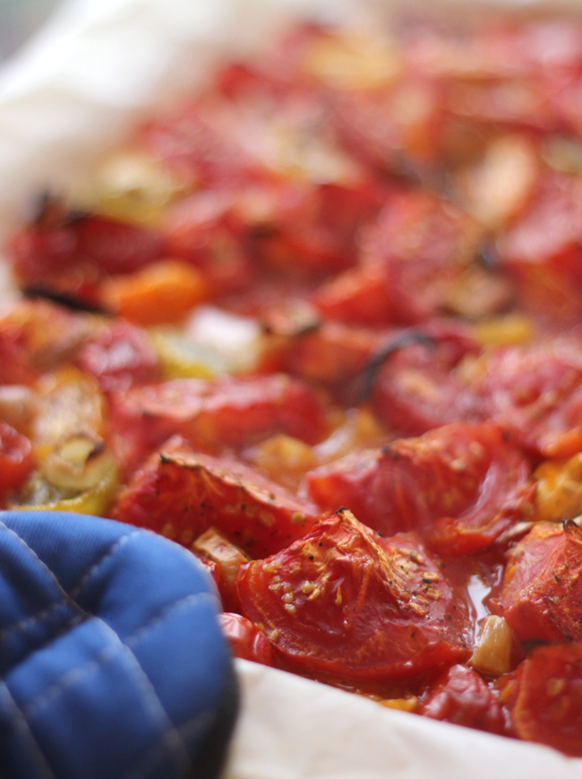 How to roast tomatoes in the oven
