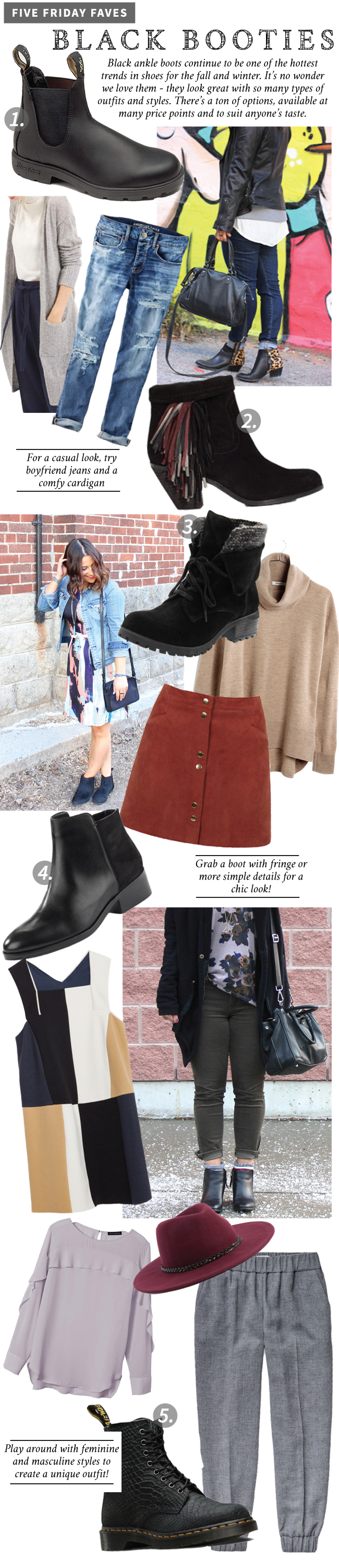 Five Friday Faves - Black Booties