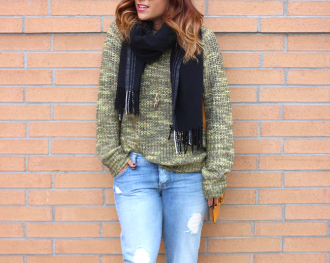 Slouchy Sweater and Boyfriend Jeans