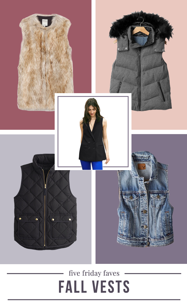 five friday faves - fall vests