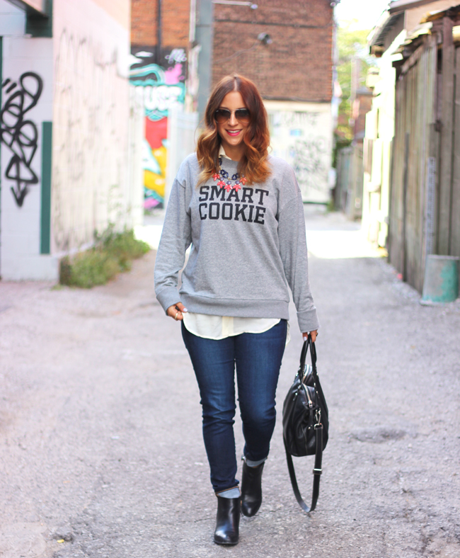 Edgy Graphic Sweatshirt