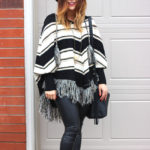 how to wear a poncho sweater