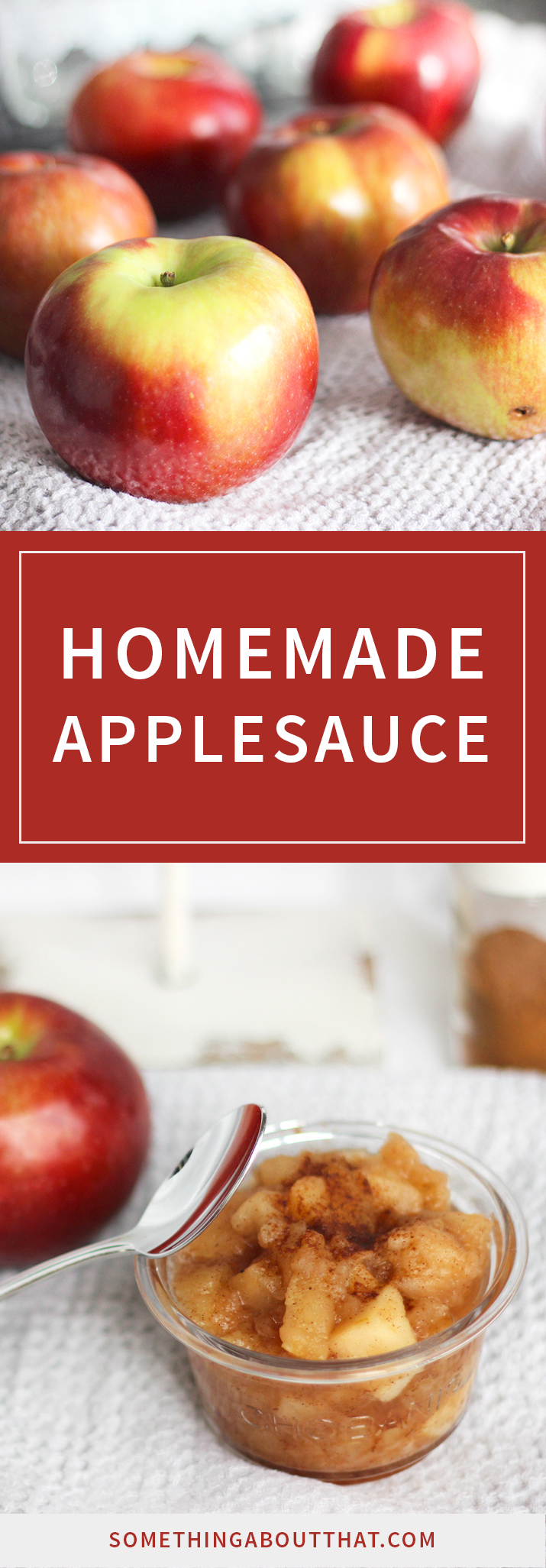 Easy homemade applesauce recipe - this is a perfect fall dessert or snack.
