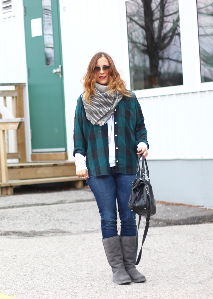 Fall and Winter Fashion Inspiration: Flannel and UGG's - New UGG Classic Slim Boots (