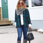 Flannel and UGG Classic Slim Boots