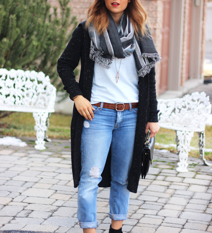 Longline cardigan - winter fashion