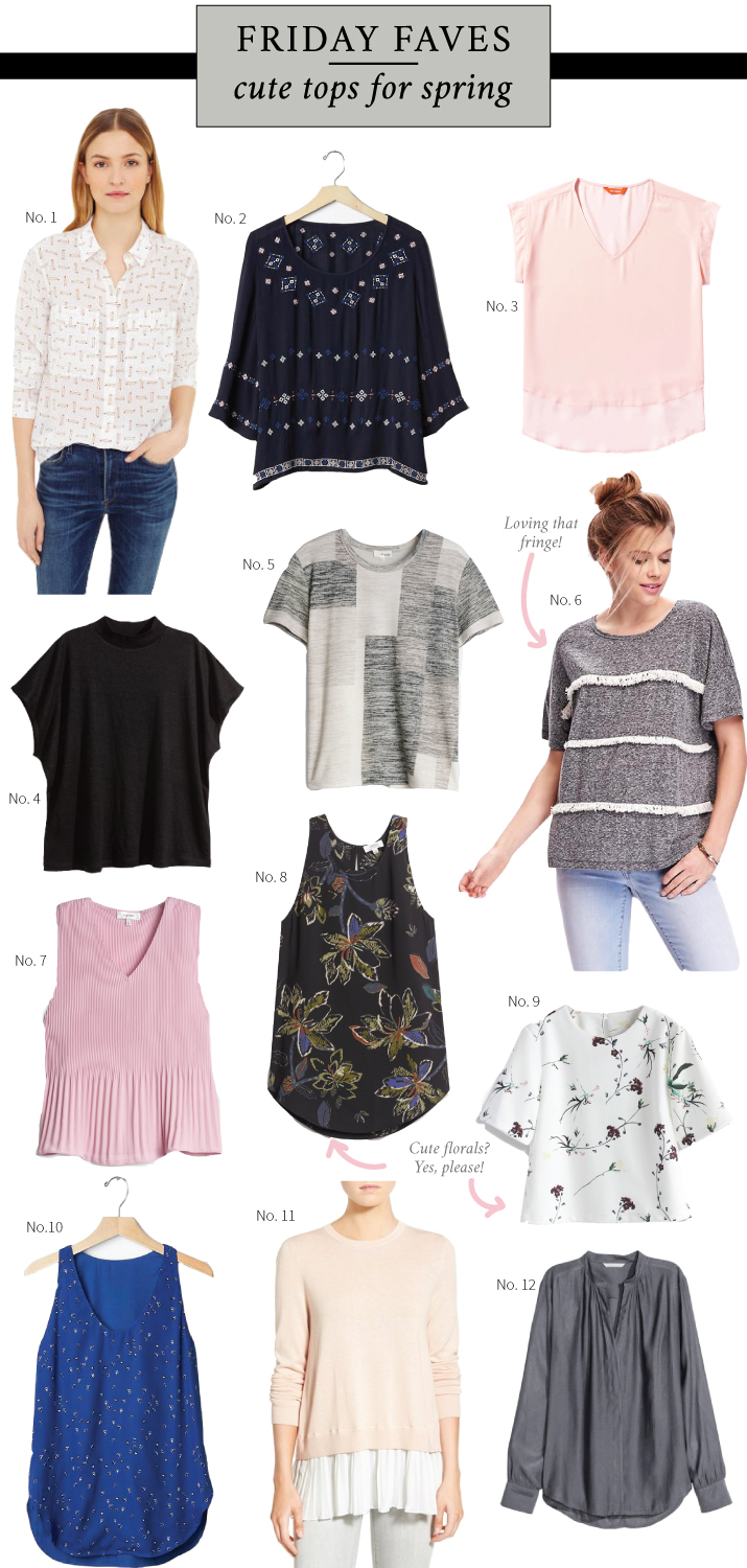 Cute tops and shirts for spring