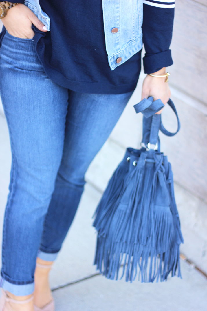 NYDJ #FitToBe - Spring Denim on Denim Outfit