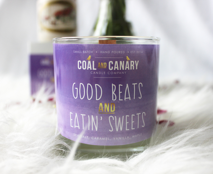 Coal and Canary Candle Company - Good Beats and Eatin' Sweets candle