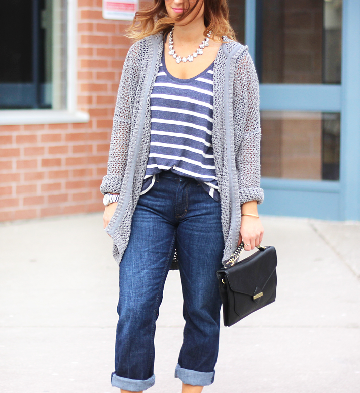 Toronto Fashion and Lifestyle blogger shares how to dress up boyfriend jeans