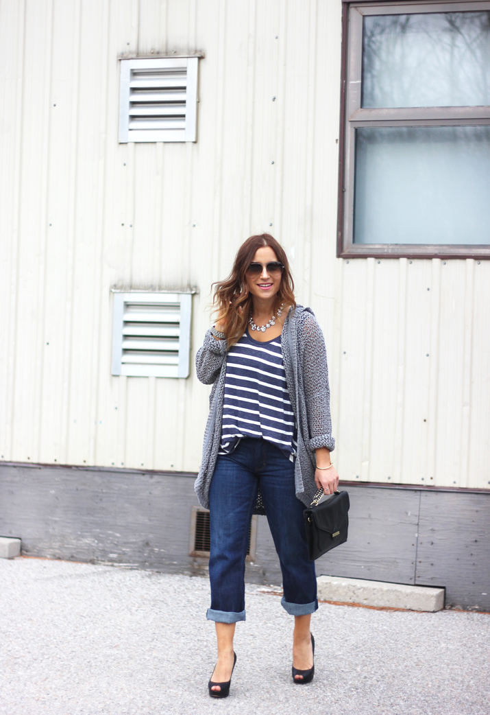 Canadian Fashion and Lifestyle Blogger - Boyfriend jeans from Banana Republic
