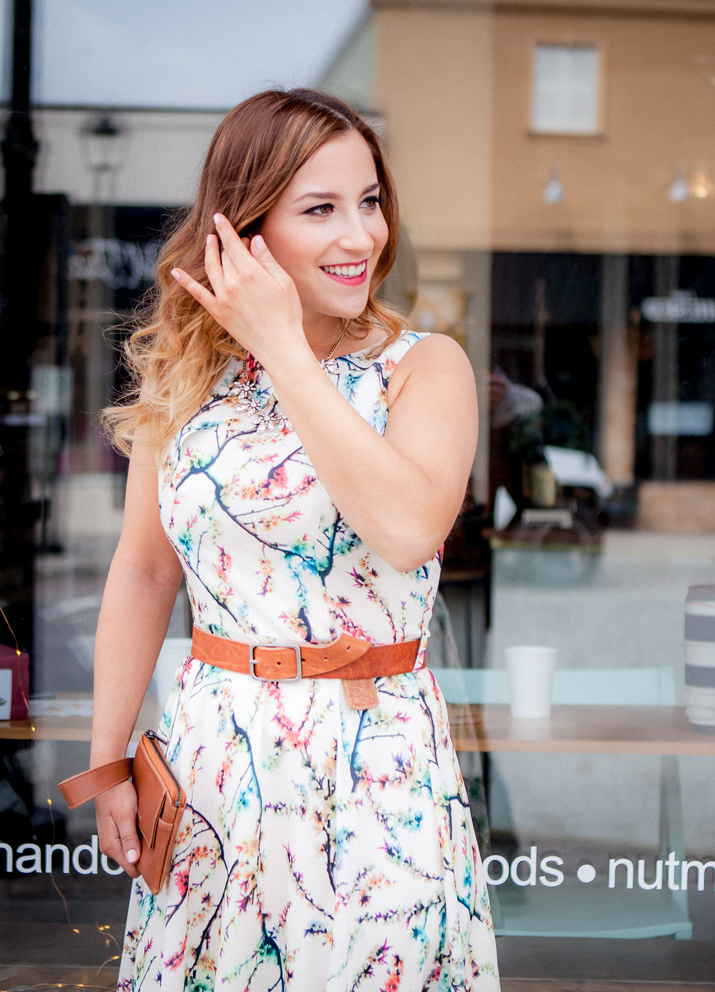 How to wear a floral dress - Add a leather belt to make it your own. This was a look from the lemonberry spring shoot