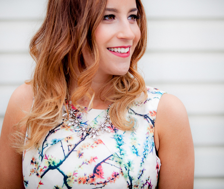 Canadian Fashion Blogger wearing a Shop for Jayu necklace