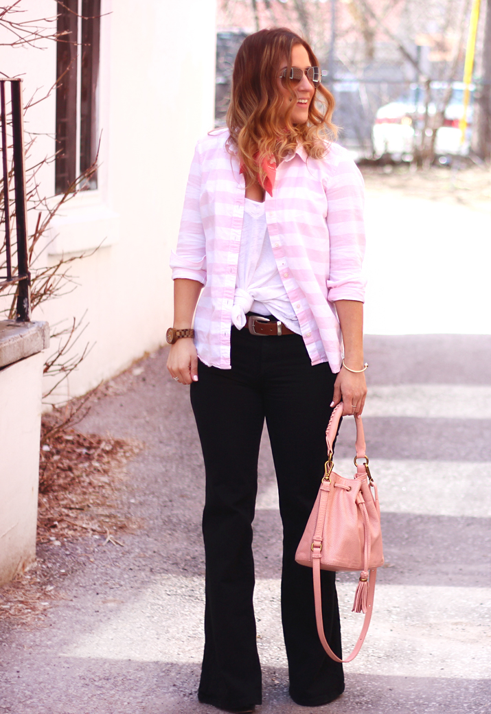 How to Wear Flared Jeans by Toronto Fashion Blogger, Jackie Goldhar