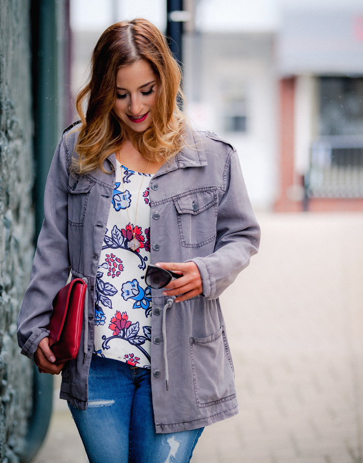 How to wear a Military Jacket - As seen on Toronto fashion blogger, Jackie Goldhar