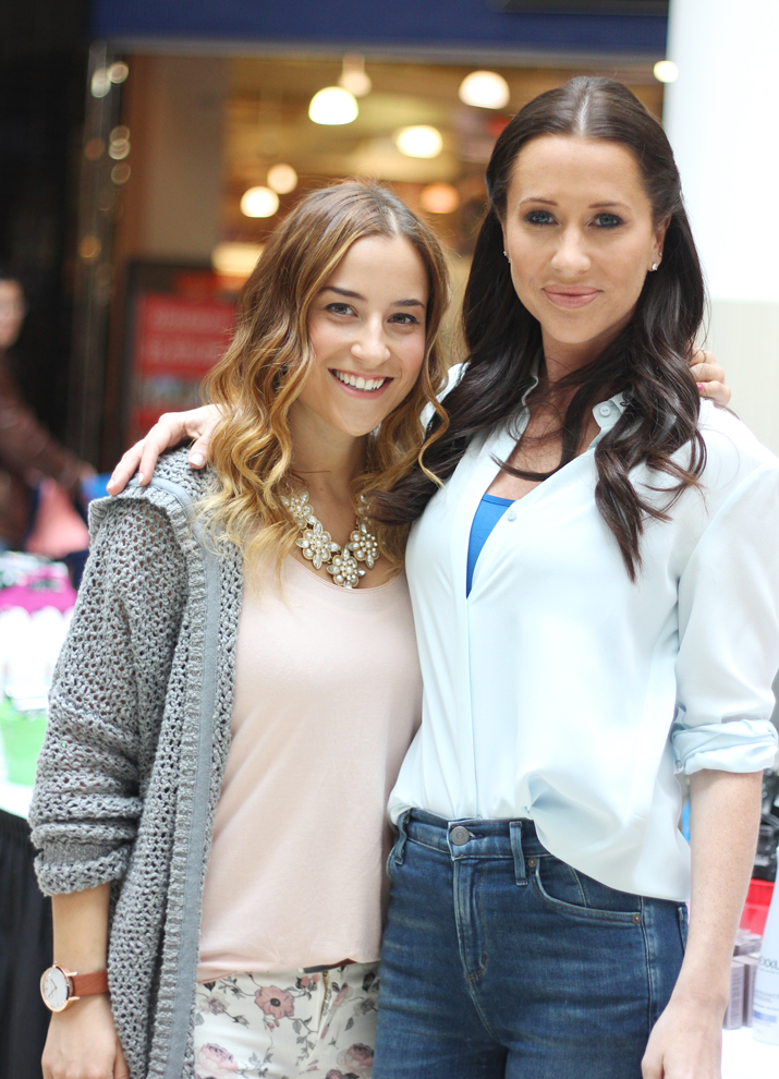 Jessica Mulroney of the Shoebox Project with Canadian Fashion Blogger, Jackie Goldhar, from Something About That