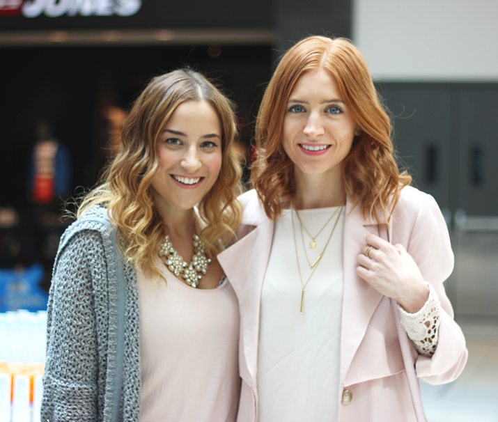Toronto fashion bloggers - Jackie Goldhar from Something About That and Gabriella Pacifico from Pastels and Pastries