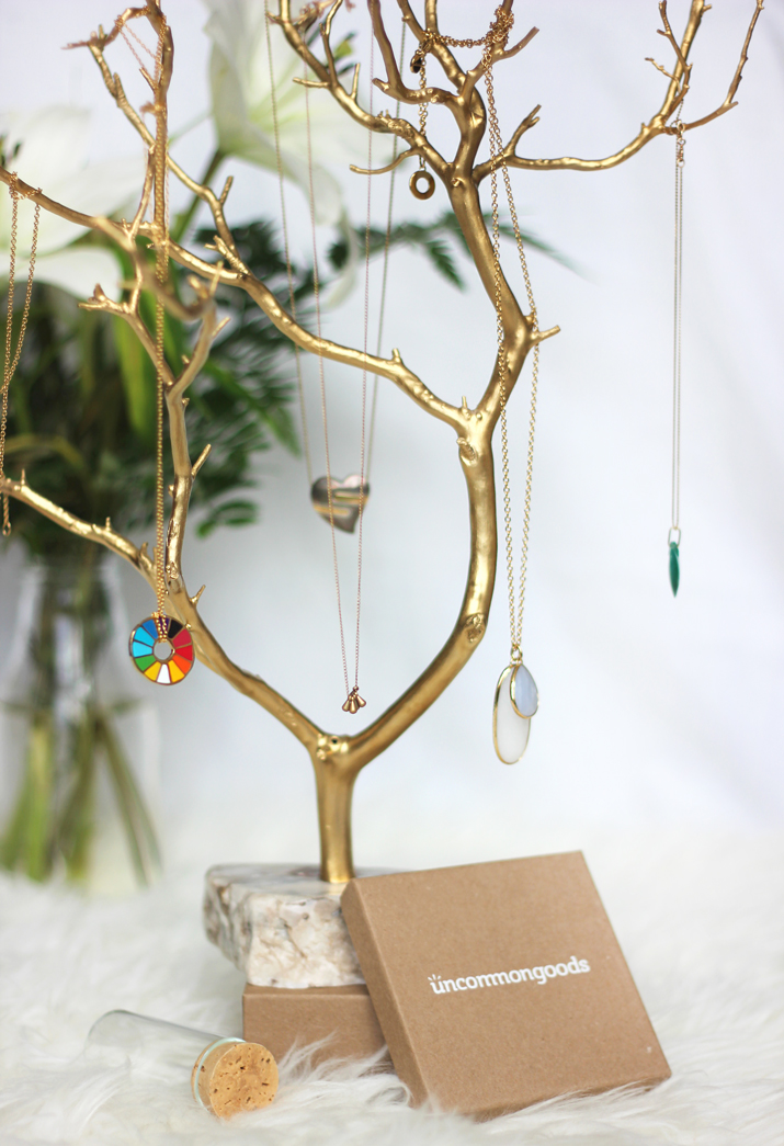 Gilded Branches Jewelry Tree from Uncommon Goods
