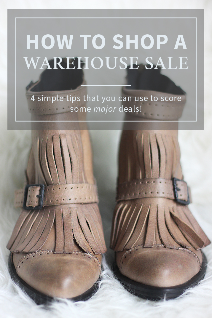 How to shop a Warehouse Sale - 4 tips to help you score some great deals