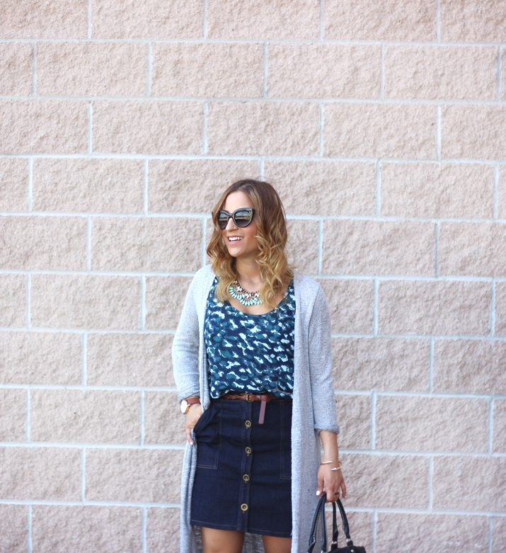 Toronto Fashion and Lifestyle Blogger - Button Front Skirt Outfit Idea for Summer