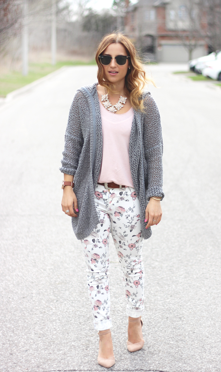Hooded crochet cardigan from Aritzia