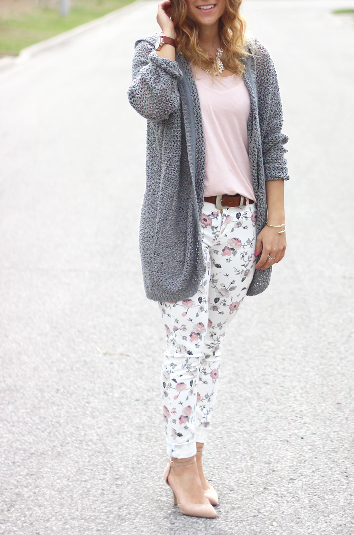 Hudson Floral Print Skinny Jeans - Styled by Toronto Fashion Blogger, Jackie Goldhar
