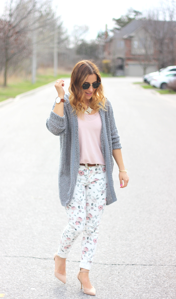 Canadian fashion blogger - How to wear floral skinny jeans