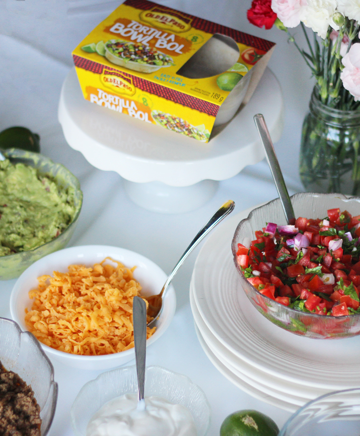 OLD EL PASO Tortilla Bowls - Homemade Pico de Galo and Guacamole