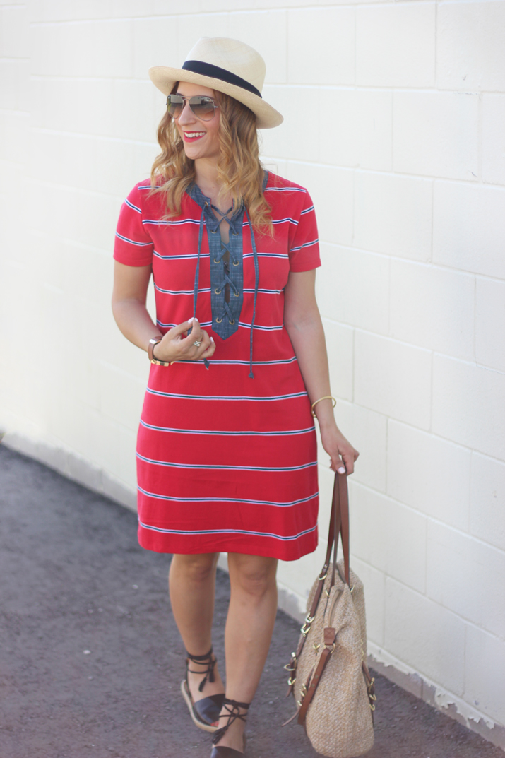 How to wear a shift dress without looking frumpy