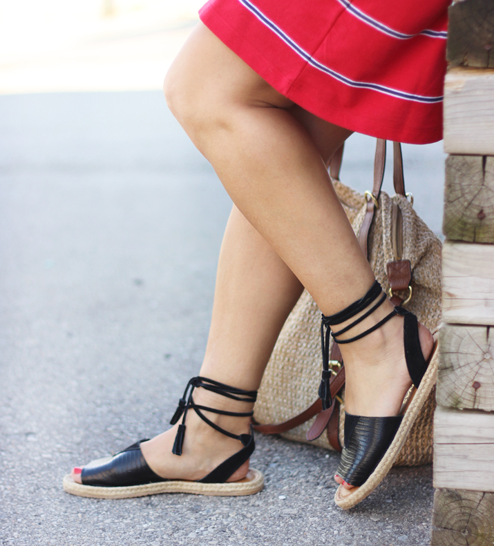 Kaanas Lace up Sandals - Canadian Fashion Blogger