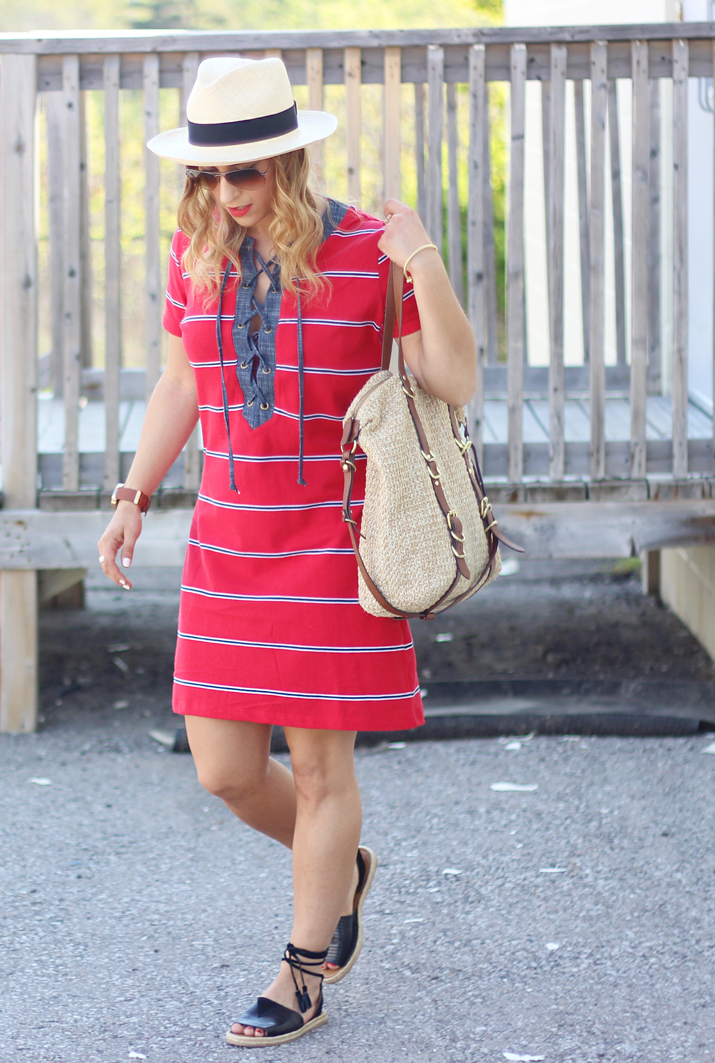 Preloved x Lemonberry Boutique - Shift Dress worn by a Toronto Fashion Blogger