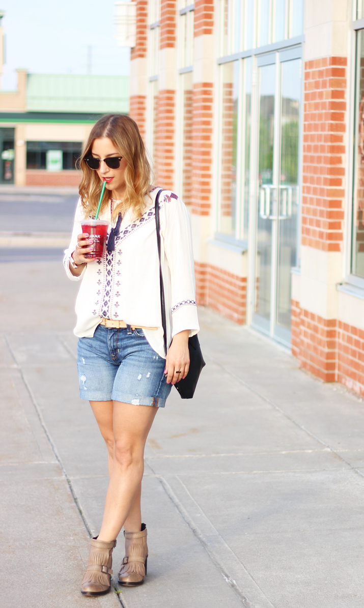 Gap denim boyfriend shorts - how to wear them