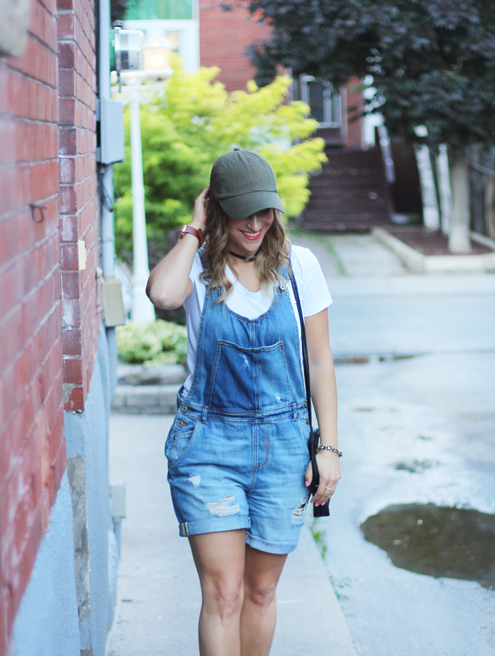 Zara denim short overalls - how to wear them fashionably